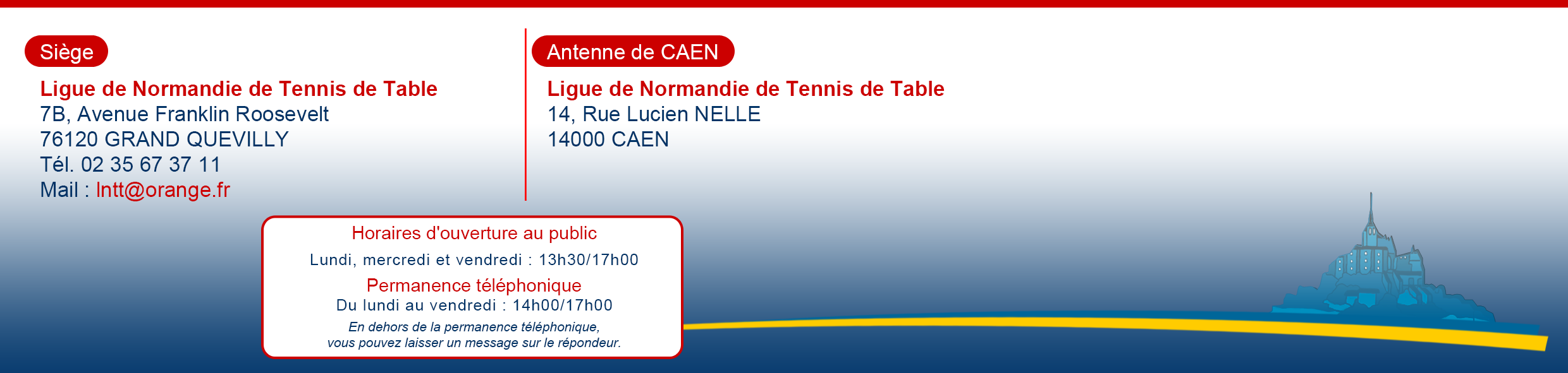 Ligue de normandie de tennis de table accueil - Ligue de basse normandie de tennis de table ...
