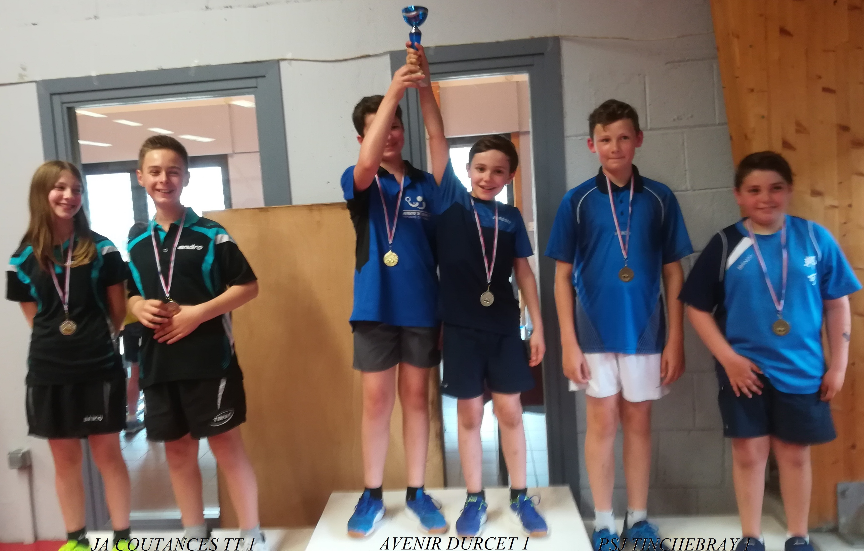 Podium Minimes Interclubs Regionaux