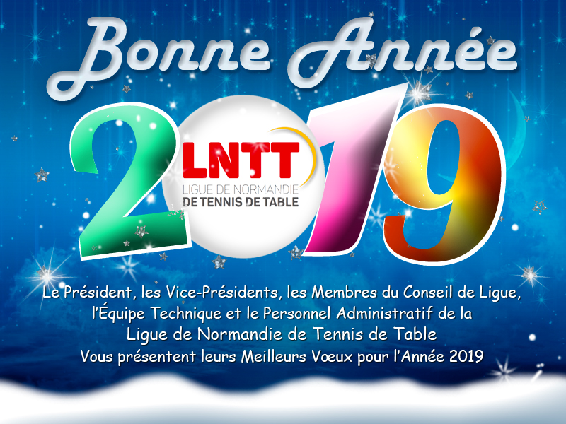 Voeux Ligue de Normandie de Tennis de Table 2019